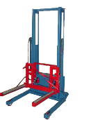 ILAH-53 Air/Hyd High Lift Wheel Dolly